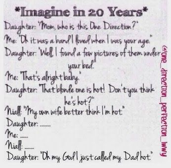 One direction Imagine. Daughter's reaction: PRICELESS!!!!  I am laughing so hard. I don't think I should have found this so funny