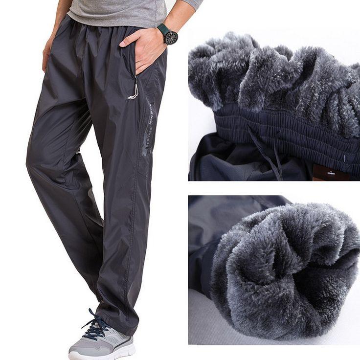 Grandwish Fleece Thick Pants Men Outside Winter Pants Men Fleece Warm Straight Mens Fleece Pants Heavyweight Zipper , PA785 #Affiliate