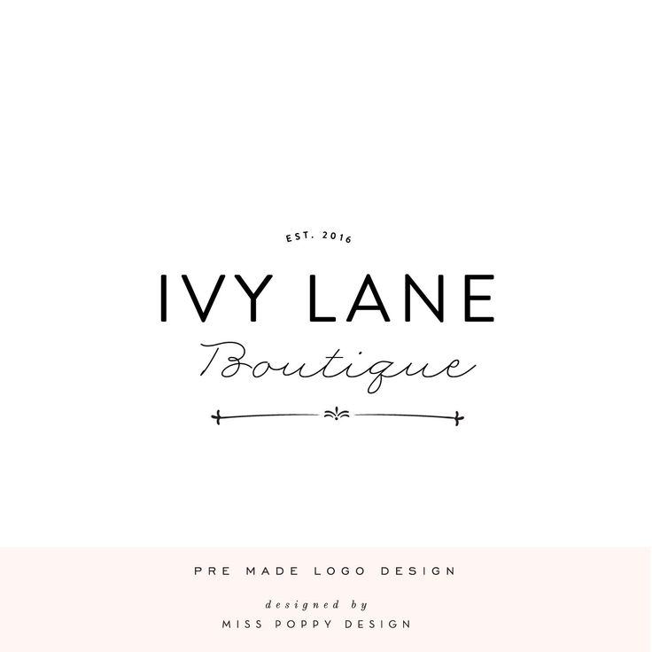 Ivy Lane- Designer Logo – Miss Poppy Design