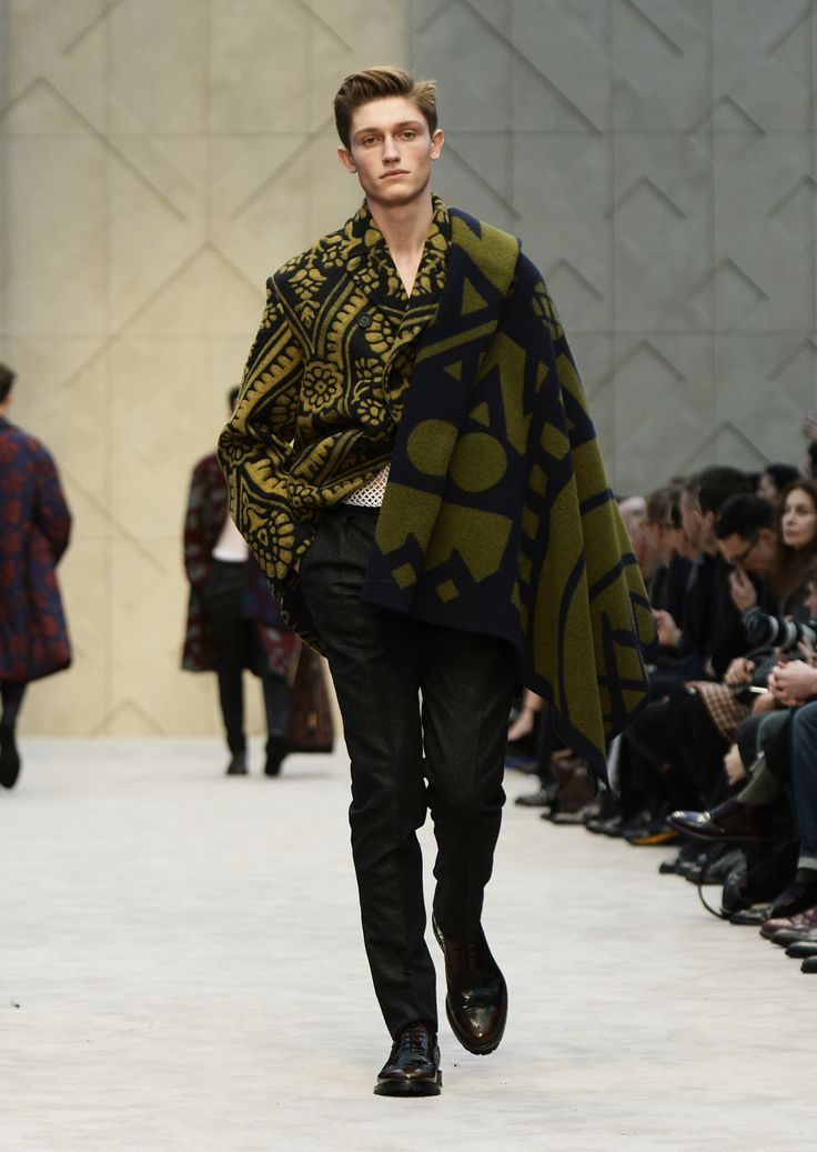 Mustard brocade needlepunch jacket with graphic blanket scarf