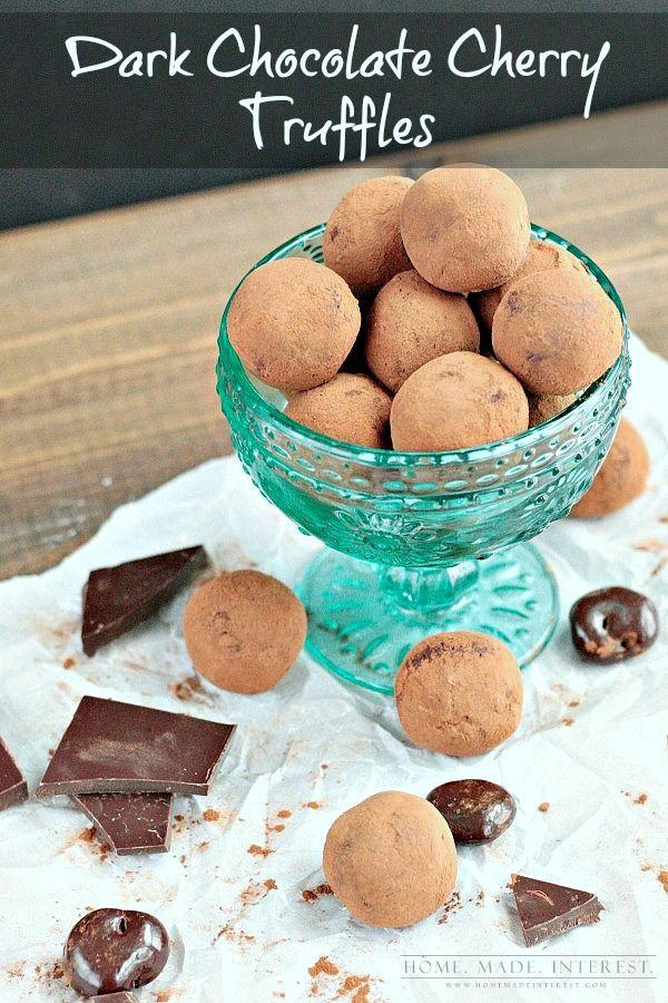 dark chocolate truffles. Our truffle recipe uses the traditional dark ...