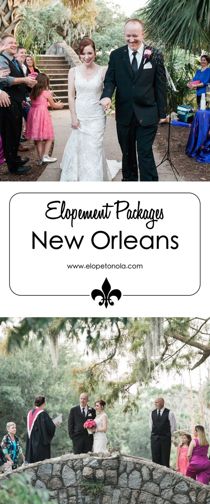 Elope to New Orleans. AFFORDABLE ELOPEMENT WEDDING PHOTOGRAPHY PACKAGES. We offer several affordable elopement packages whether it's just the two of you or packages to include you bringing along your favorite people on earth!At Elopetonola, we care about you and we are here to help you create a memorable elopement experience.
