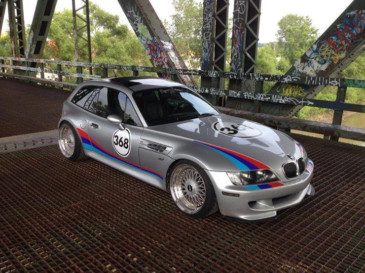 BMW Z3 M Coupe. Nice Martini theme, shame about the chav slammin