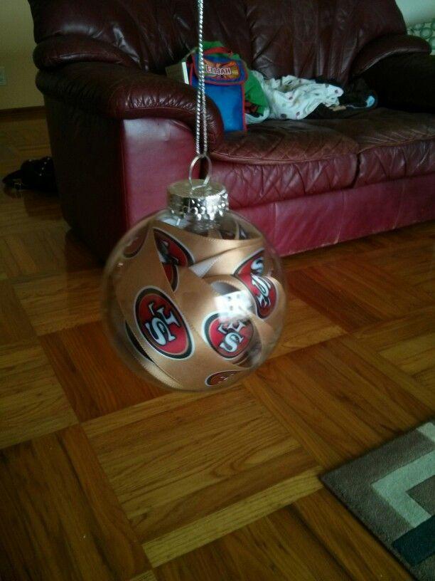 sf 49ers home made ornament