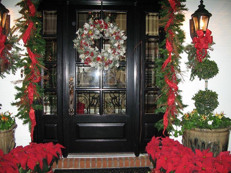 Christmas Front Door Entry Ways
