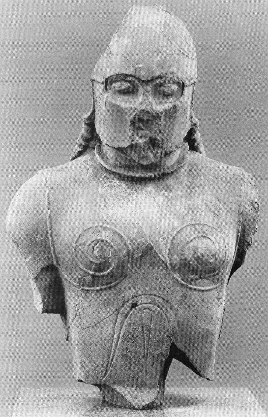Statue of a Spartan warrior, from the Isle of Samos, 520BCE. It is easy to imagine that this statue possibly represents either Archias or Lycopas, two Spartans who died valiantly when the Spartans sent aid to Samos in order to oust the pro-Persian tyrant, Polykrates. For their brave actions, they were buried within the city walls of Samos, and given full honors by the Samians.