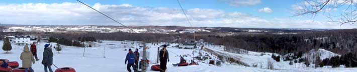With breathtaking views of Lake Leelanau, Snow Tubing at Timberlee Hills is a fun adventure for the whole family.