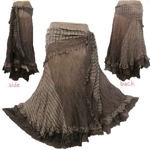 BOHO/HIPPY/GYPSY CROCHET TIE WAIST SHADE SKIRT