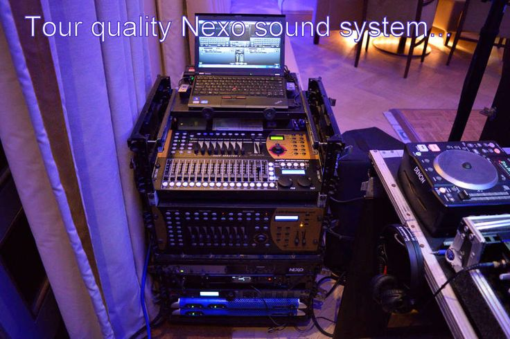 A professional Nexo sound system with a specialist wedding DJ will make sure that everybody is up dancing at your wedding - DJ Martin Lake
