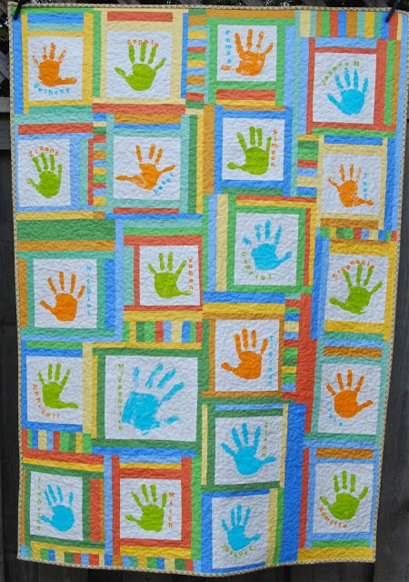 Margaret's Hope Chest: Search results for handprint quilt