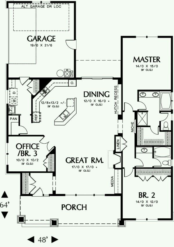 First Floor Plan Image Of Ellington House Layout 1891 Sq Ft