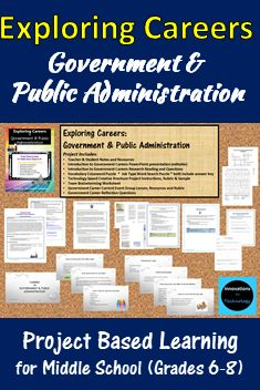 This career unit gives students an introduction to the government and public administration career cluster and what a career in this field would be like. This is perfect for a career, technology, CTE or business class.   The included PowerPoint presentation can be used by the teacher for whole class instruction, or provided to the students electronically (or as a printout) for them to review individually. Students use close reading skills with a short informational passage to learn about the…
