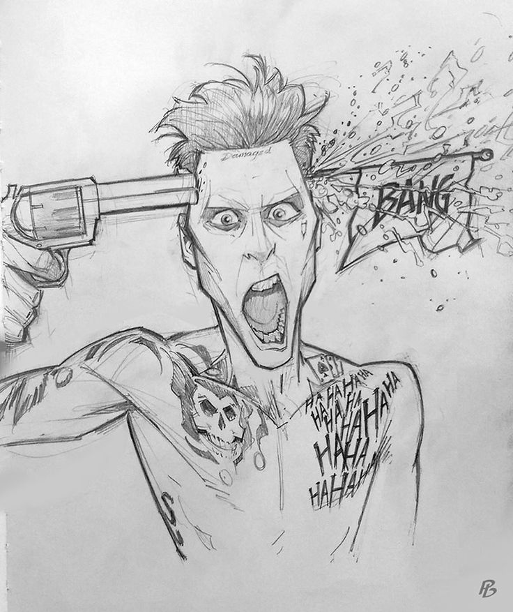 Joker Scribble Drawing : Jared leto joker comics cartoon pinterest