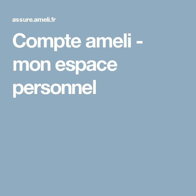 Compte ameli - mon espace personnel