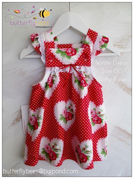 NEW BORN  ~~~~    Vintie Dress Size 00 | Butterflybees | madeit.com.au