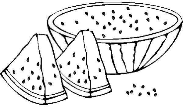 Watermelon Coloring Pages Watermelon Is One Of The Fresh Fruit