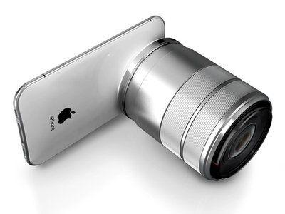 it's a phone, it's a camera, it's a giant lens #Gadget #iPhone #GadgetLove #LynnFriedman