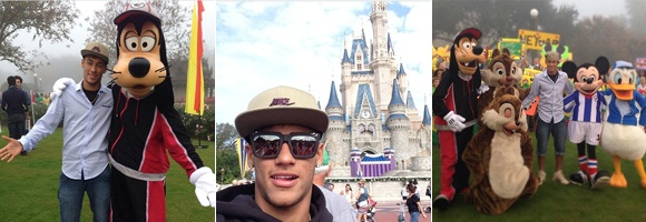 Neymar é outro que vira e mexe tá postando alguma foto no Instagram. As mais legais foram bem no finzinho do ano, quando ele viajou de férias com a família pra Disney.  Instagram dos famosos: As melhores fotos de 2012! - Famosos - CAPRICHO