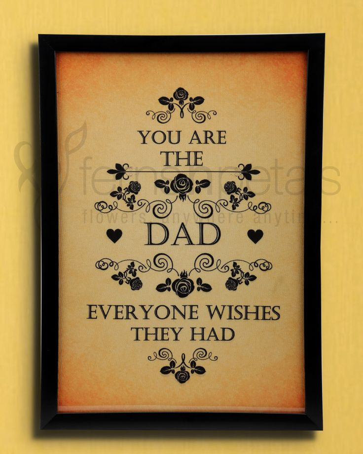 How about putting your feelings in writing on the wall? It surely is a great idea to express your feelings for your #dad this #Father's #Day.