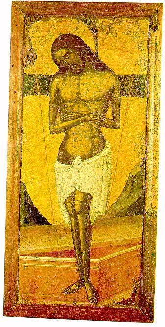 """O NYMFIOS"" , Man Of Sorrows - 16th Century Byzantine Icon - St. Loukas Church (Cyprus)"