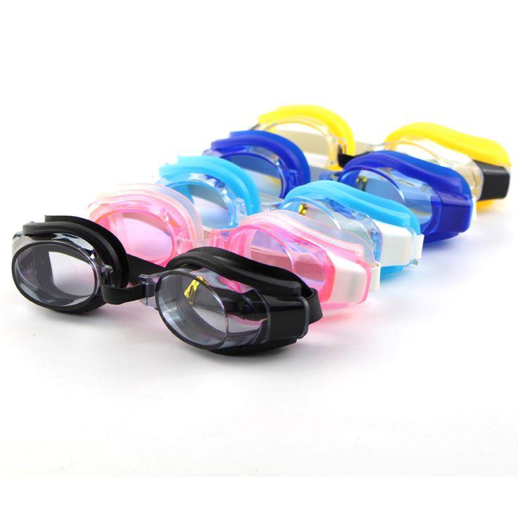 Adult Men Women Children Kids Adjustable Swimming Eye Glasses Eyeglasses Goggles Unisex Sports Swimwear w/ Ear Plugs & Nose Clip