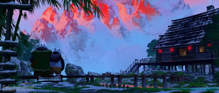 Kung Fu Panda 3 exclusive: See concept art and cinemagraphs of panda village | EW.com