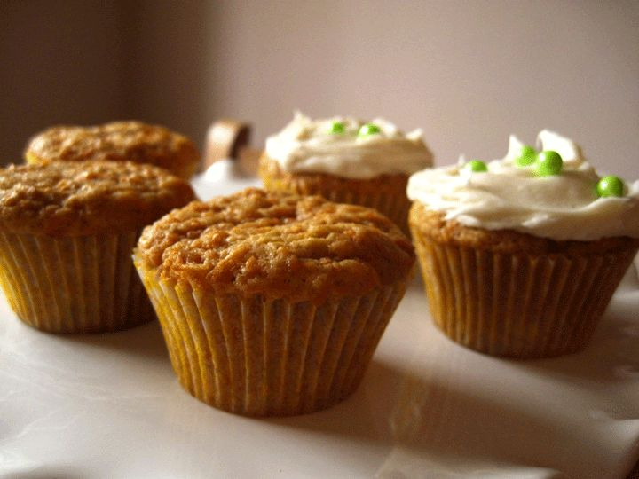 High-altitude Carrot Cupcakes
