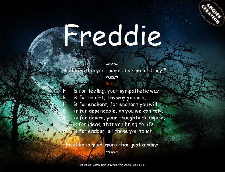 Hidden Story in the name Freddie