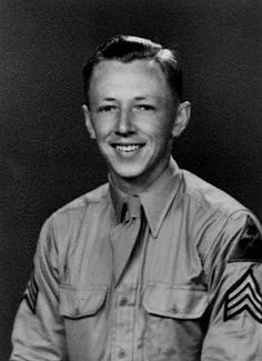 Charles Schulz:Army:1943-45 staff sergeant 20th Armored Division in Europe as a squad leader on a machine gun team. (Peanuts Cartoon Creator)