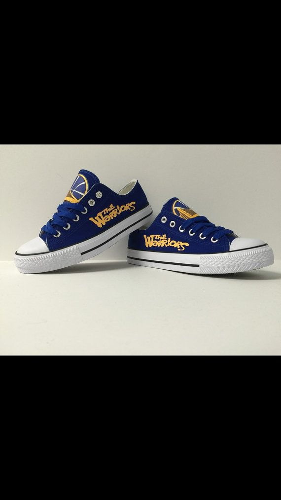 Golden State Warriors Athletic Designer Shoe by LacedUp209 on Etsy