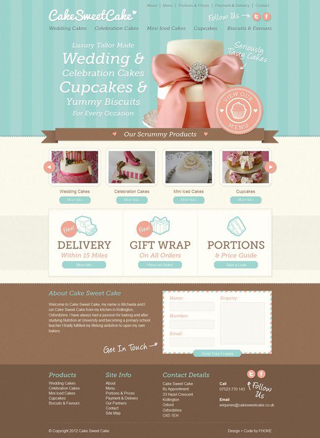 Trendy Bakery Website Design Inspiration #cupcake #cakedesign