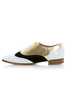 **Lustrous Metallic Lace Up Brogues by Dune