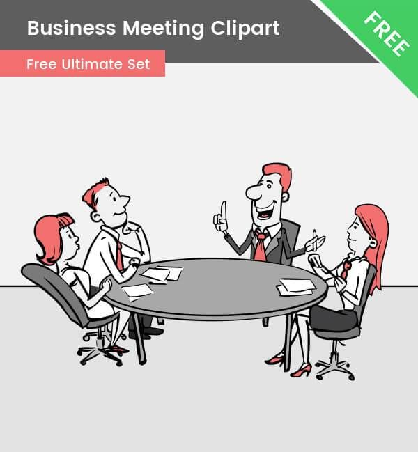 A Cartoon Business Meeting Clipart That Will Definitely Grab The Attention Of Your Audience This Illus Business Cartoons Clip Art Business Vector Illustration