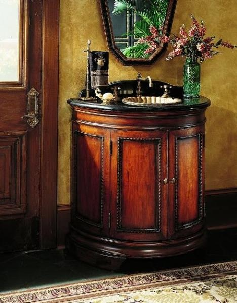 Photography Gallery Sites Demilune Chest W Sink DISCONTINUED ITEM Sereno Hooker Furniture Two doors Curio CabinetsHooker FurnitureCabinetsSinkChestBathrooms