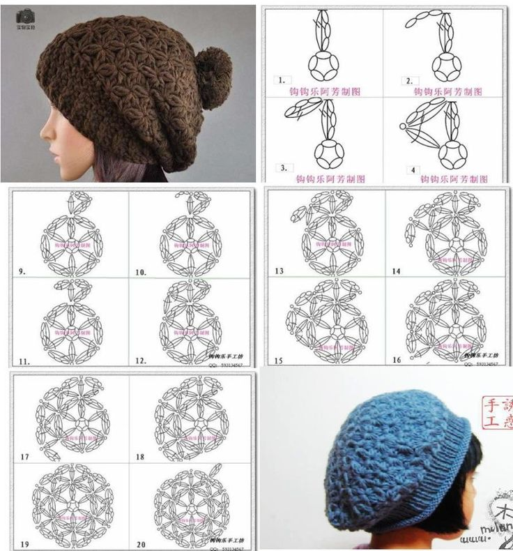 101 best crochet gorros y bufandas images on Pinterest | Knitting ...