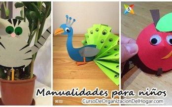 Manualidades para niños DIY paso a paso http://cursodeorganizaciondelhogar.com/