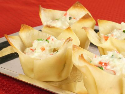 Baked Crab Wonton Cups - Super Bowl food that's Bariatric friendly and Delish!