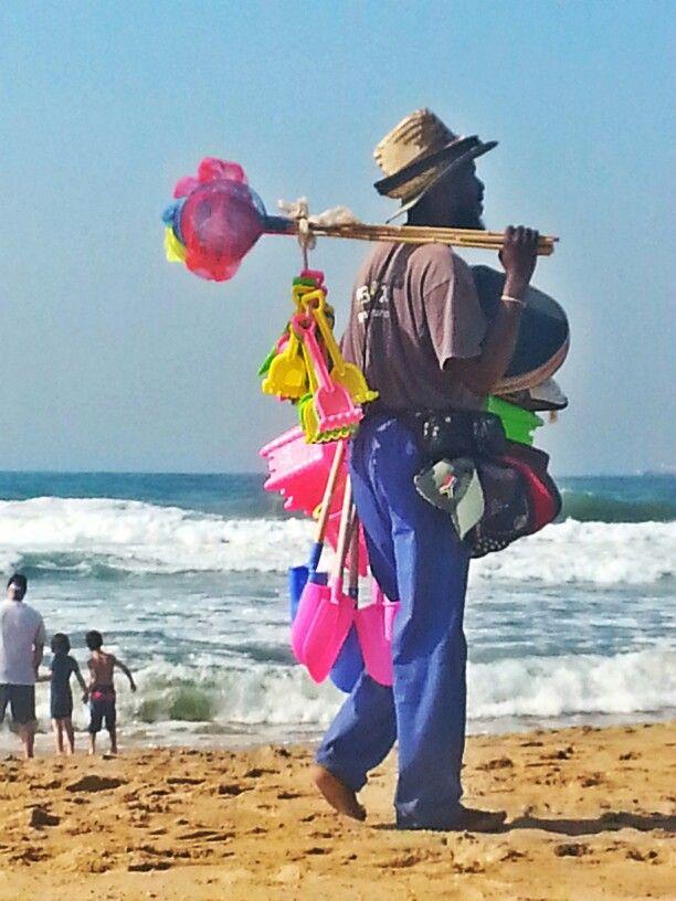 A beach vendor in Umhlanga