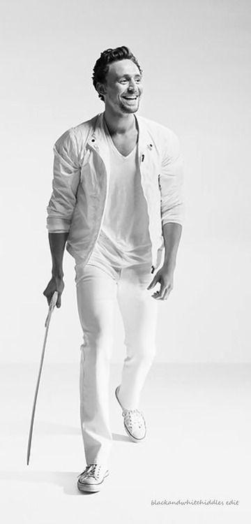 Tom Hiddleston in white by Ian Derry