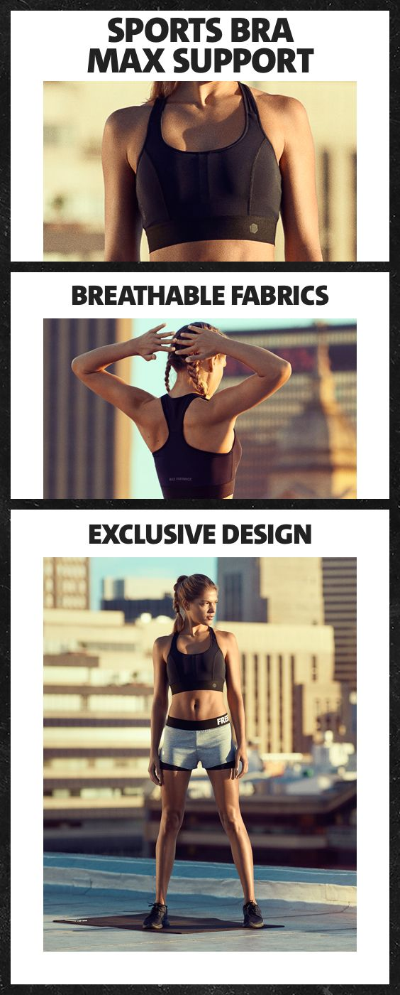 Sports bras are just there to look pretty? Wrong! Designed to optimize comfort and movement, this sports bra offers breathable fabrics and great support during every workout.
