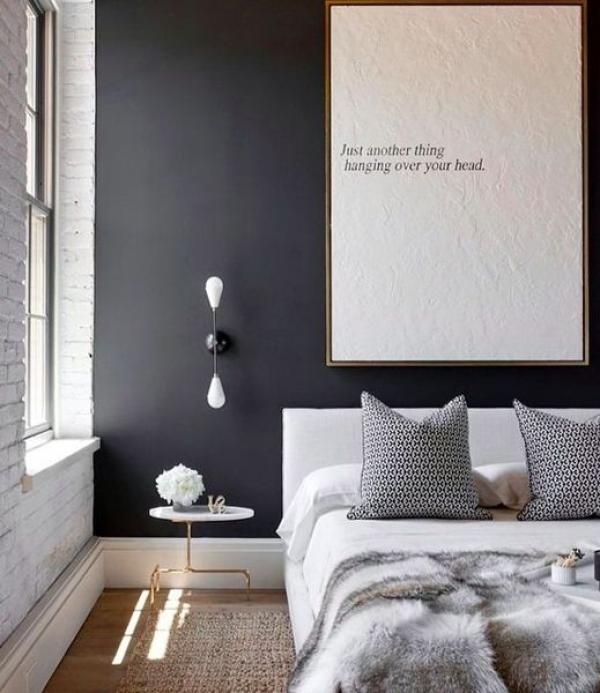 Colour trend 1: dark feature wall bedroom (see http://buildme.co.nz/articles/colour-trends-resene-design-seminar-waikato-home-show/ for more information)