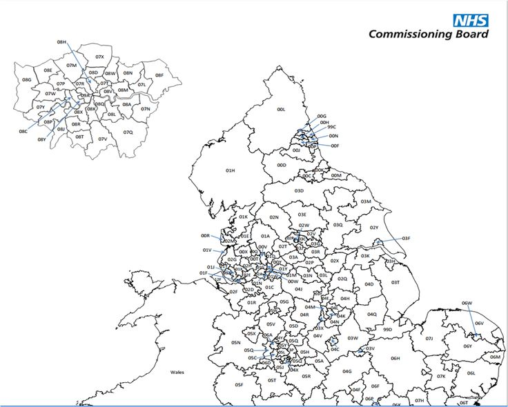 Map of Clinical Commissioning Groups on the NHS England website.
