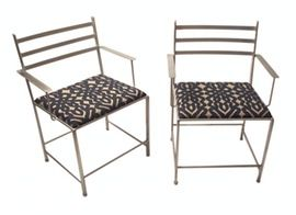Outdoor Dining Chair  Transitional, Upholstery  Fabric, Metal, Armchair by York Street Studio