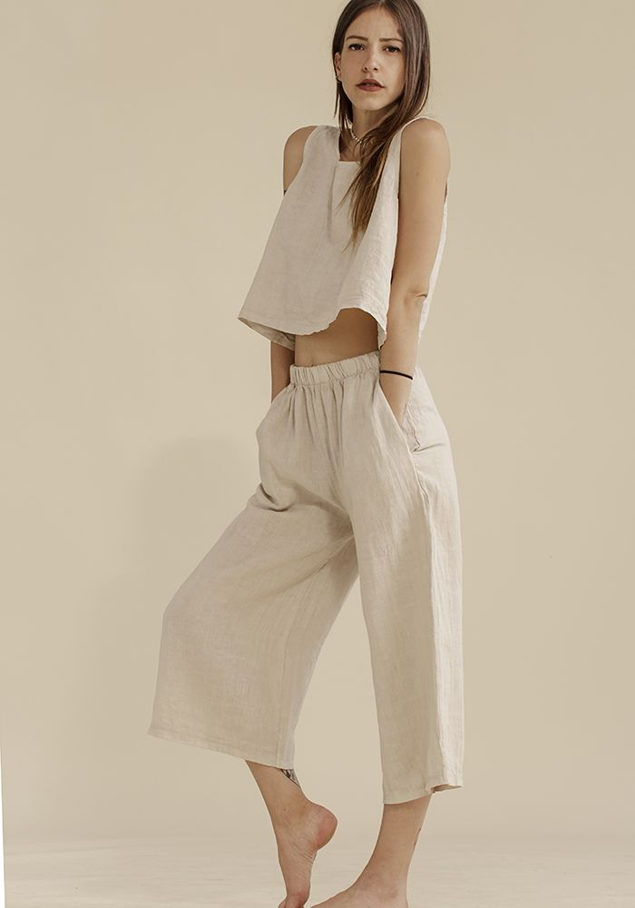Butter Milk Top & Culottes  by myfashionfruit.com