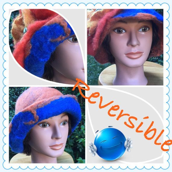 Blue & Orange by GlennaEclectic on Etsy