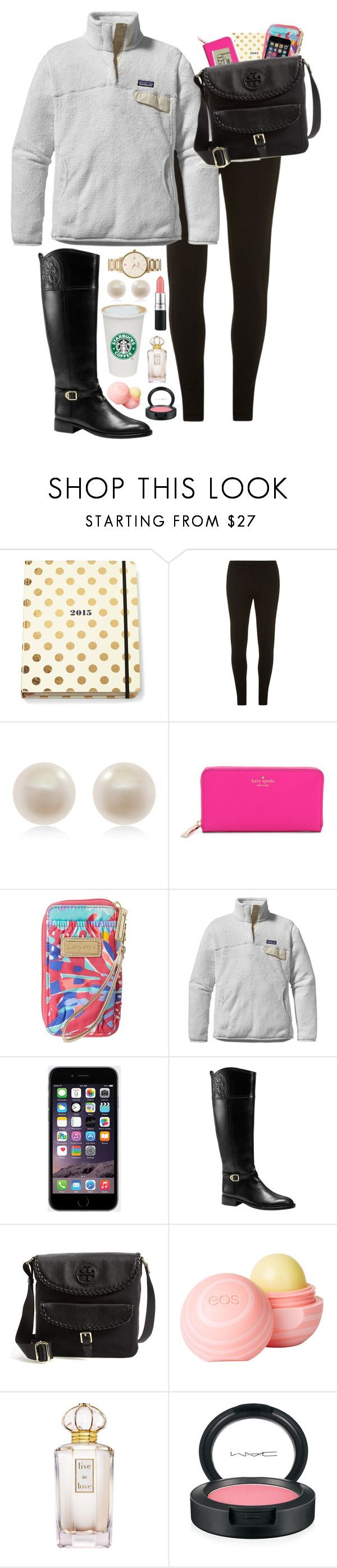 """Black Friday Shopping"" by preppyoutfitsdaily ❤ liked on Polyvore featuring moda, Kate Spade, Dorothy Perkins, Links of London, Lilly Pulitzer, Patagonia, Tory Burch, Jack Spade, MAC Cosmetics e dELiA*s"