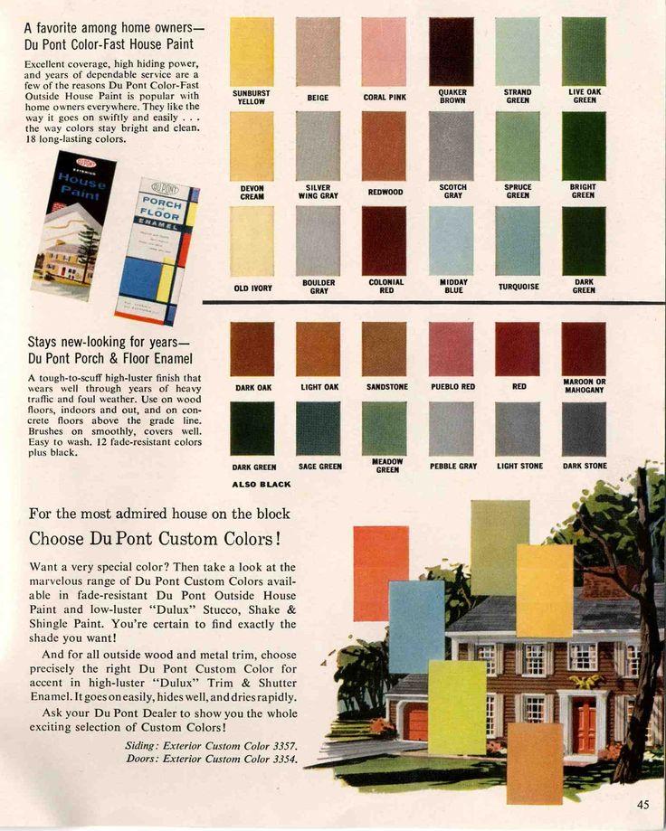 house paint from du pont via retro renovation - Best Exterior Paint Finish