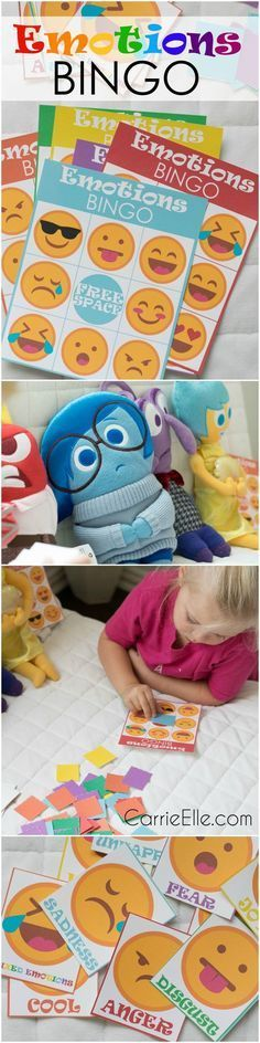 If you're looking for free printable kids' games, you'll love this Emotions Bingo game inspired by the movie Inside Out. It's a great way to get young kids talking about emotions!