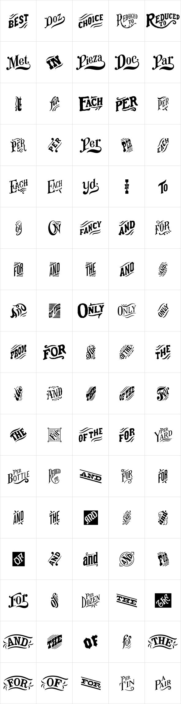 HWT Catchwords by Hamilton Wood Type Foundry - Desktop Font and WebFont - YouWorkForThem.