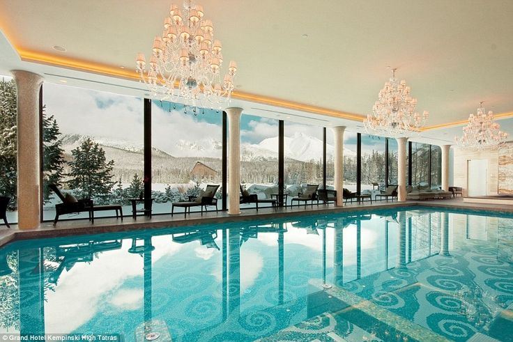 The five-star hotel's Zion Spa, which looks out onto the alpine lake, was recently named Slovakia's best hotel spa